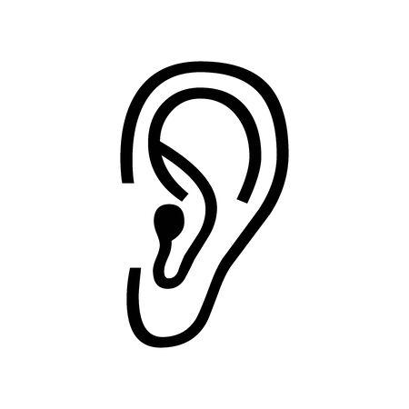 Black EAR symbol for banner, general design print and websites. Illustration vector. 일러스트