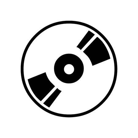 Black DVD symbol for banner, general design print and websites. Illustration vector.