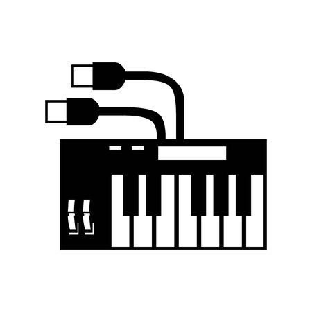 Black Make and Mix sound  symbol for banner, general design print and websites. Illustration vector.