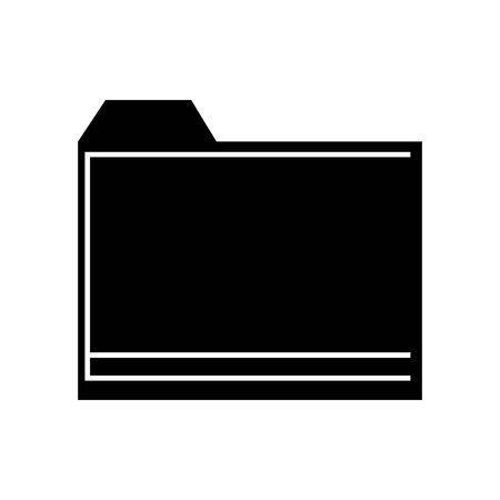 Black folder symbol for banner, general design print and websites. Illustration vector.