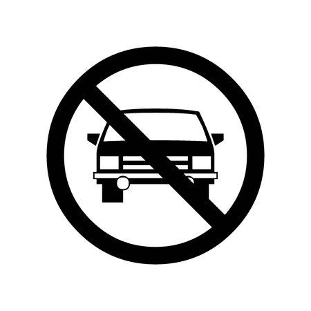 Black No pass symbol for banner, general design print and websites. Illustration vector. Vettoriali