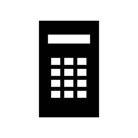 Black Calculator symbol for banner, general design print and websites. Illustration vector.