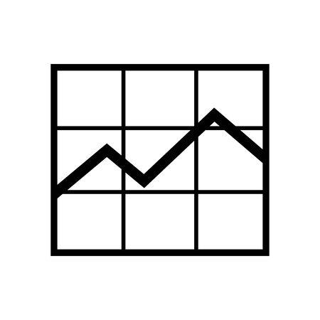 Black Graph stock symbol for banner, general design print and websites. Illustration vector. 일러스트