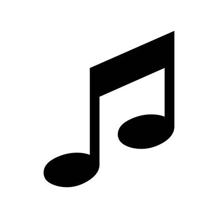 Black Music symbol for banner, general design print and websites. Illustration vector.