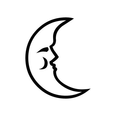 Black Moon symbol for banner, general design print and websites. Illustration vector. 일러스트