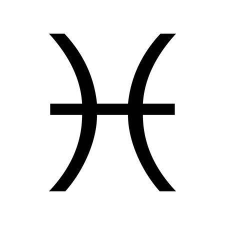 Black Pisces symbol for banner, general design print and websites. Illustration vector. 일러스트