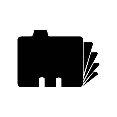 Black Fire folder symbol for banner, general design print and websites. Illustration vector.