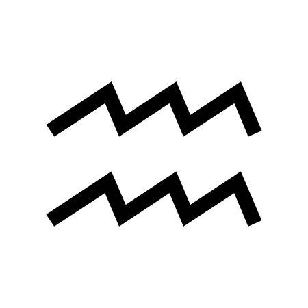 Black Aquarius symbol for banner, general design print and websites. Illustration vector. 일러스트