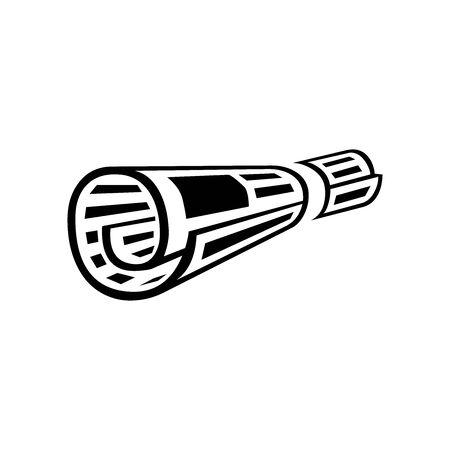 Black news symbol for banner, general design print and websites. Illustration vector.