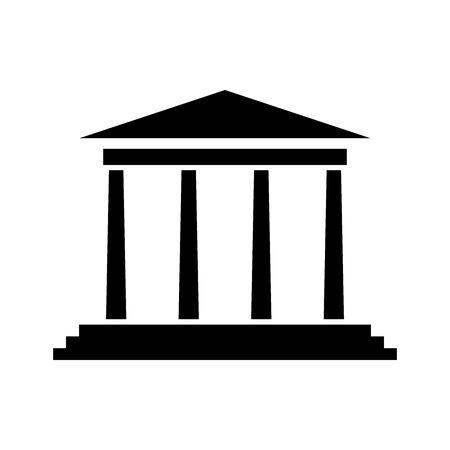 Black Bank symbol for banner, general design print and websites. Illustration vector.