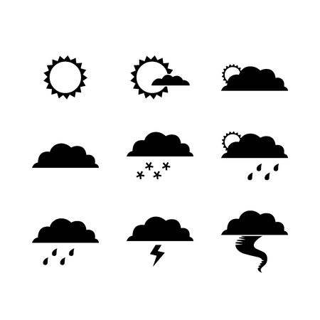 Black weather symbol for banner, general design print and websites. Illustration vector.
