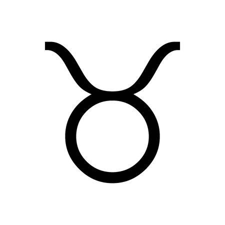 Black Taurus symbol for banner, general design print and websites. Illustration vector.