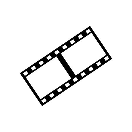 Black filmstrip symbol for banner, general design print and websites. Illustration vector.