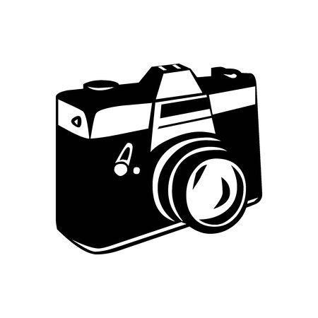 Black Camera symbol for banner, general design print and websites. Illustration vector.