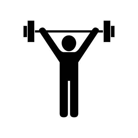Black Weightlifting symbol for banner, general design print and websites. Illustration vector. Ilustração
