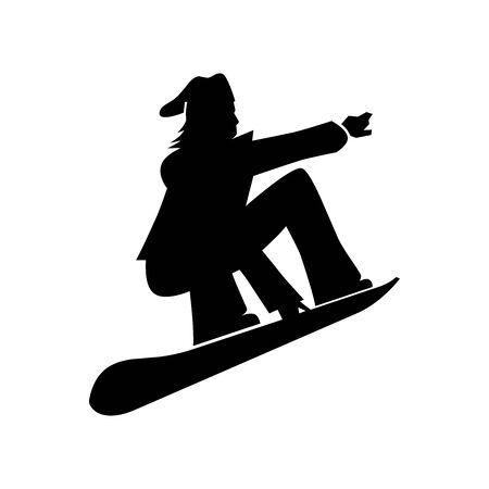 Black Snow board symbol for banner, general design print and websites. Illustration vector.