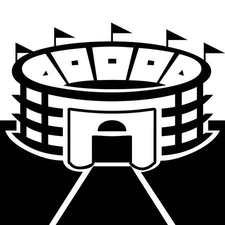 Black Stadium symbol for banner, general design print and websites. Illustration vector.