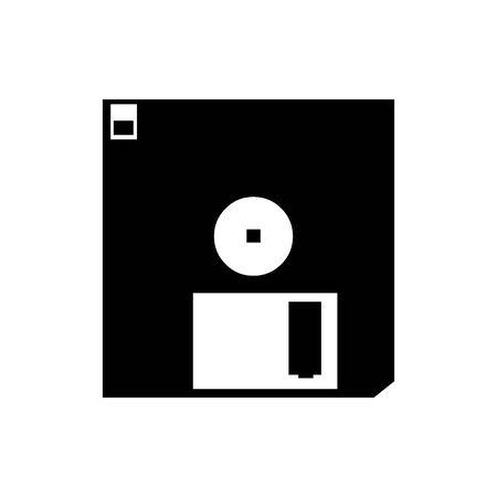 Black diskette symbol for banner, general design print and websites. Illustration vector.
