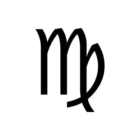 Black Virgo symbol for banner, general design print and websites. Illustration vector.