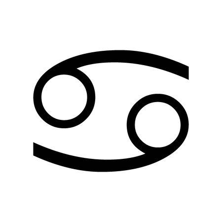 Black Cancer symbol for banner, general design print and websites. Illustration vector. Illustration