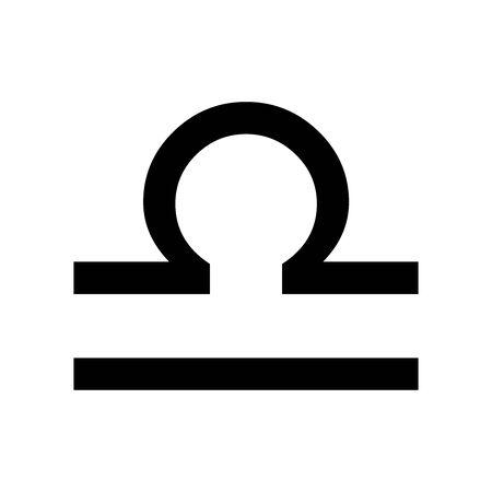 Black Libra symbol for banner, general design print and websites. Illustration vector.