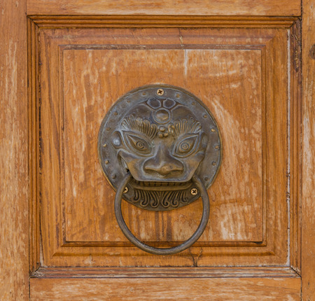 door handle: Door handle in wood