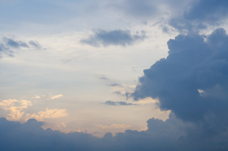 warmness: Sky and cloud background and texture Stock Photo