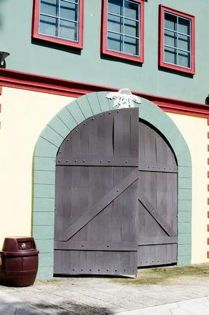 Big vintage wooden door photo