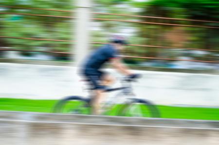 hi speed: Ride the bike with hi speed in motion blur