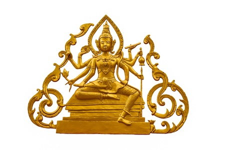 nataraja: Siva on white background Stock Photo