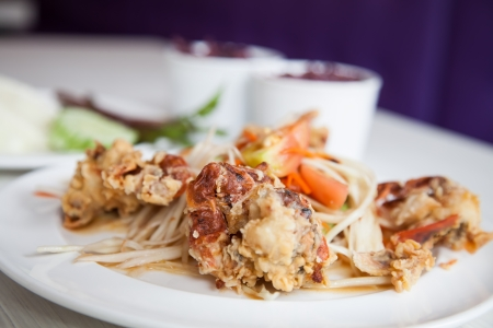 Soft-Shell Crab Salad, Thai food photo
