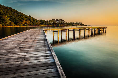 Old wharf in Samed-Laemyha National park, Rayong, Thailand photo