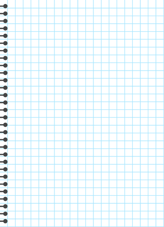 Blank lined paper template, one page, Notebook & Exercise book, vector illustration. Vektorové ilustrace