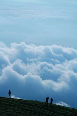 Cloudscape on Phu Tab Berk Mountain, Petchaboon, Thailand Stock Photo