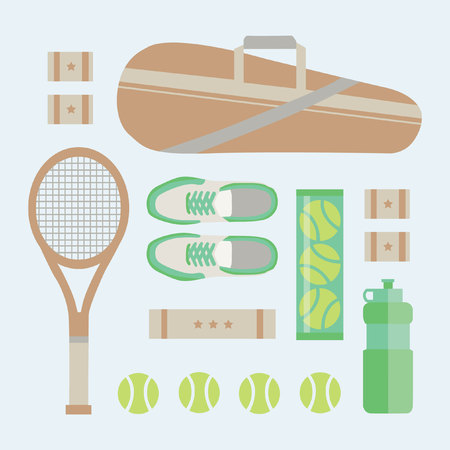 lay: FLAT LAY TENNIS EQUIPMENTS