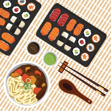 FLAT SUSHI FOOD LAY