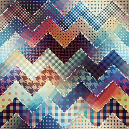 Seamless background pattern. Chevron patchwork pattern. Vector