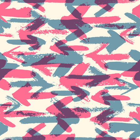 multidirectional: Seamless background pattern. Multidirectional arrows in opposite directions, blue vs red.