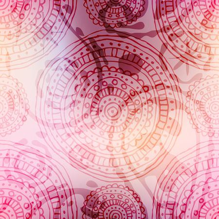 Seamless background pattern. Pink background pattern with mesh-gradient.