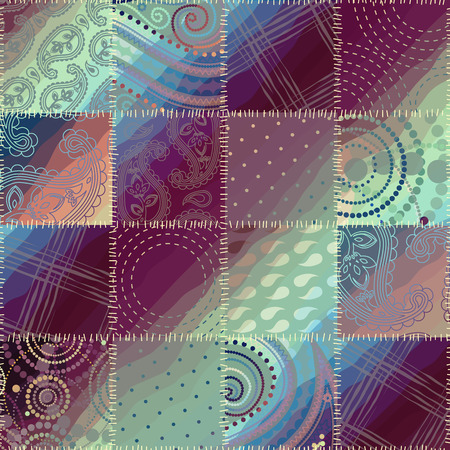 Seamless background pattern. Patchwork pattern with the shadow Vector