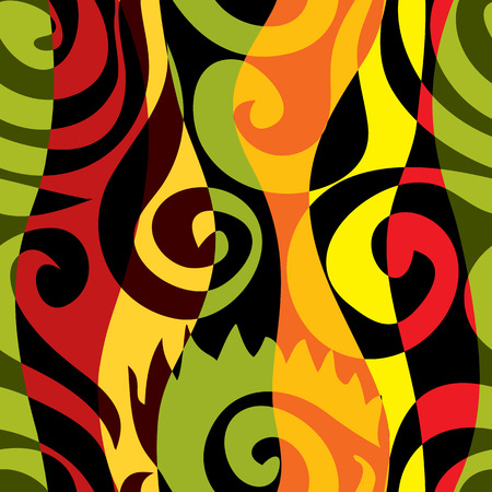 rastaman: Seamless background pattern. Will tile endlessly. Ethnic abstract Illustration
