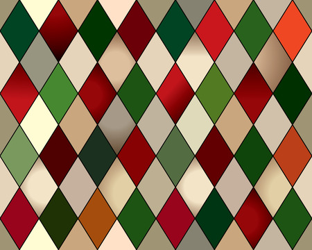rhomb: Seamless rhomb harlequin. Seamless background pattern, red and green