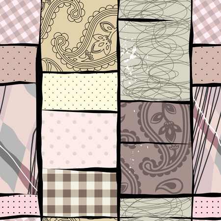 endlessly: Seamless background pattern. Will tile endlessly. Patches collage