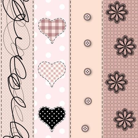 Seamless background pattern. Will tile endlessly. Pink patchwork Illustration