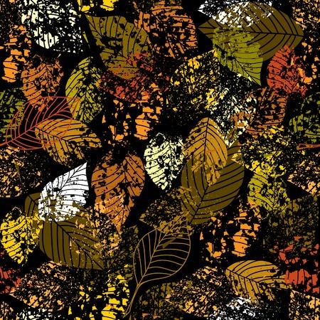 Seamless background pattern. Autumn grunge wallpaper.