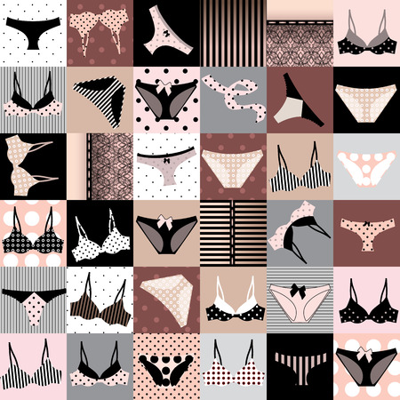 pink panties: Seamless background pattern. Will tile endlessly. Underwears.