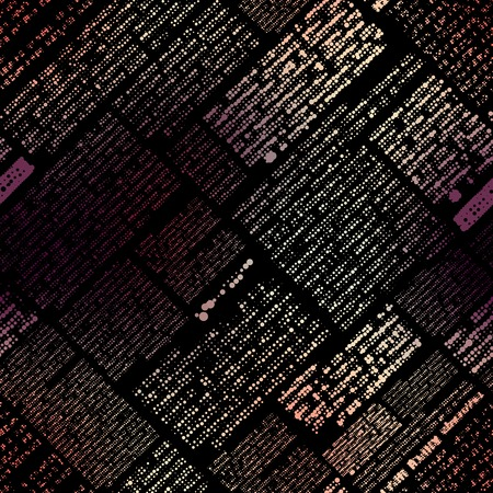 unreadable: Seamless background pattern. Will tile endlessly. Black imitation newspaper, text unreadable