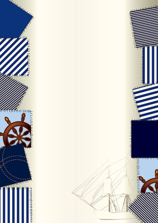 bordered: Bordered Background in nautical style.