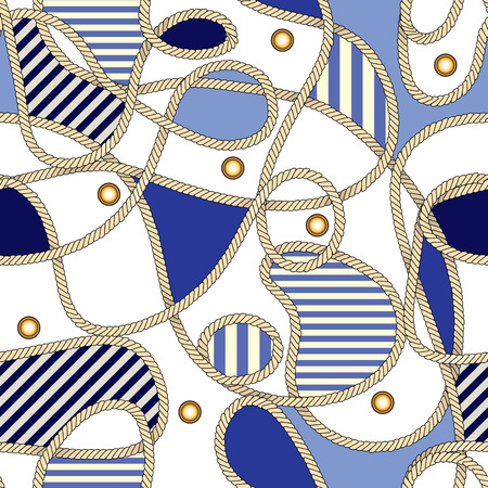 Seamless background pattern. Pattern in nautical style. Vector