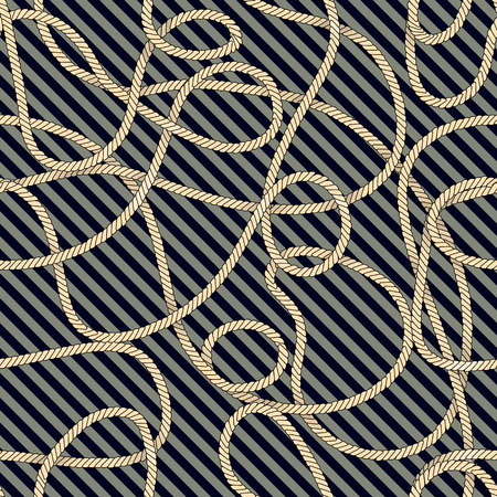 nautical rope: Seamless background pattern. Pattern in nautical style